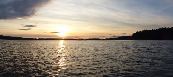 Vackrare solnedgång får man leta efter.