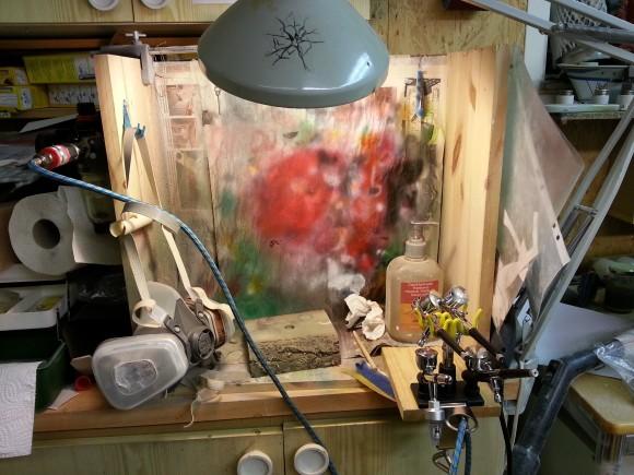 Översikt över min målarhörna