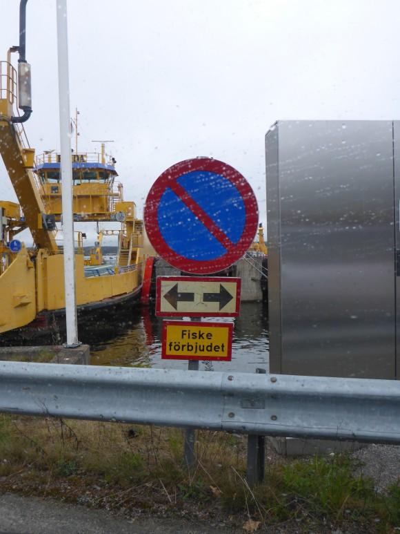 Skylten som inte bådade gott när bussen blev sen :-)